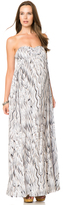 A Pea in the Pod Ella Moss Bust Ruching Maternity Maxi Dress
