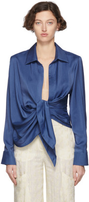 Jacquemus Blue La Chemise Bahia Shirt