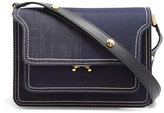 Marni Trunk medium denim cross-body bag