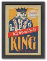 Americanflat Anderson Design Group ''Good To Be King'' Framed Wall Art