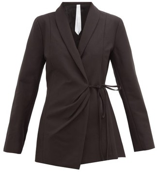 Merlette New York Vanda Wrap Cotton-twill Jacket - Black