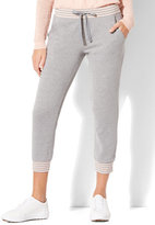 New York & Co. Striped-Trim Cropped Jogger Pant