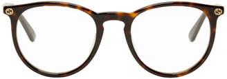 Gucci Tortoiseshell Round Glasses