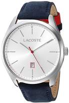 Lacoste Men's 'San Diego' Quartz Stainless Steel and Suede Casual Watch, Color:Blue (Model: 2010909)