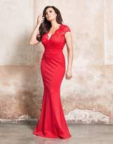 Jessica Wright V Neck Lace Maxi Dress
