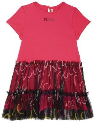 Emilio Pucci Junior Logo T-Shirt Dress (4-14 Years)