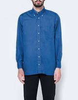 Gitman Brothers Oversized Blue Poplin Shirt