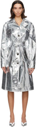 Kwaidan Editions Silver Patent Trench Coat