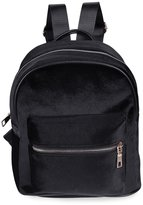 Excellent shop Girl Preppy Style Backpack Rivet Pure Color Pleuche Portable Bag Tote Handbag