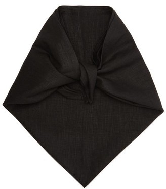 Art School Linen Headscarf - Black