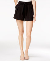 SHIFT Juniors' Pleated Tie-Front Soft Shorts, Only at Macy's