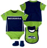 NFL Seattle Seahawks Lil Jersey Size 24M 3-Piece Creeper, Bib, and Bootie Set