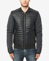 Buffalo David Bitton Men's Quilted Faux Leather Bomber Jacket