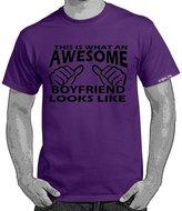 StarliteFunnyTShirts Starlite~Mens Funny tshirts-Awesome Boyfriend Looks Like tshirt-XL