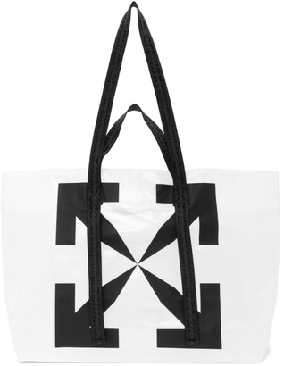 Off-White White Transparent Arrows Tyvek Tote