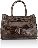 Zagliani Women's Crocodile Gatsby Small Tote-BROWN