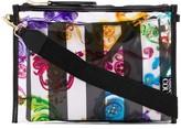Versace striped baroque shoulder bag