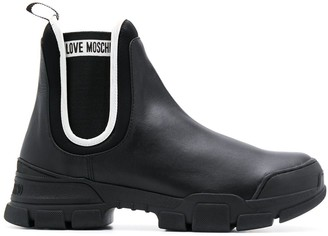 Love Moschino lug-sole Chelsea boots