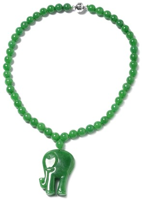 Shop Lc Silver Dyed Jade Bead Necklace with Magnetic Clasp Size 18 In Ct 558.5 - Size 18''