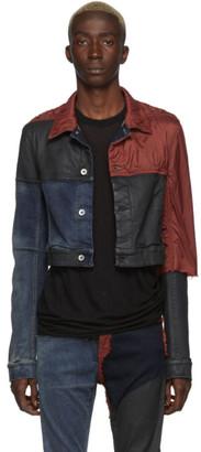 Rick Owens Red and Blue Denim Little Joe Jacket
