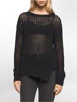 Calvin Klein Asymmetrical Solid Stitch Pullover