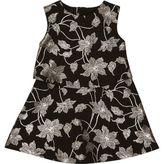 River Island Mini girls black metallic floral dress
