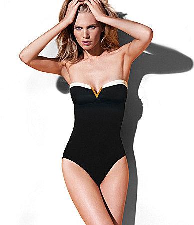 "Vince Camuto Gold Coast"" Colorblock One-Piece Swimsuit"