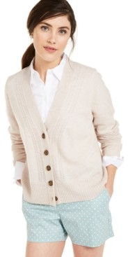Charter Club Cashmere Mix-Stitch Cardigan, Created for Macy's