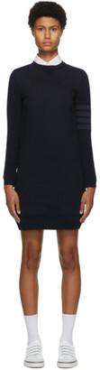 Thom Browne Navy 4-Bar Sweater Dress