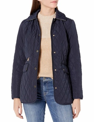 Jones New York Women's Quilted Jacket with Hood