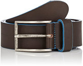 Barneys New York MEN'S TWO-TONED LEATHER BELT