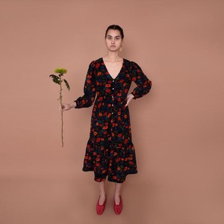 Meadows Orchard Dress Cord In Navy Floral - 8
