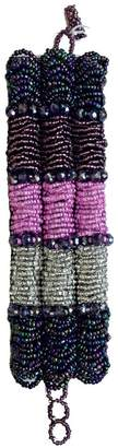 Mexican Collection Hand-Beaded Purple Cuff