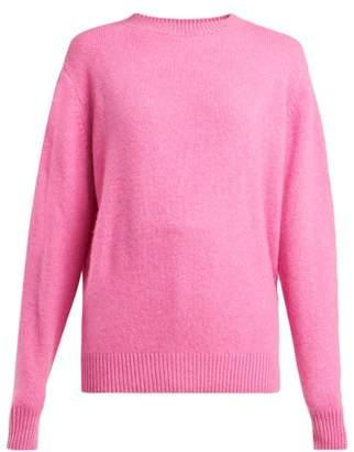 The Elder Statesman Round Neck Cashmere Sweater - Womens - Pink