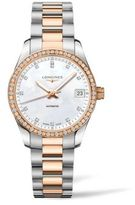 Longines Conquest Classic Diamond, Mother-Of-Pearl, Goldtone & Stainless Steel Watch