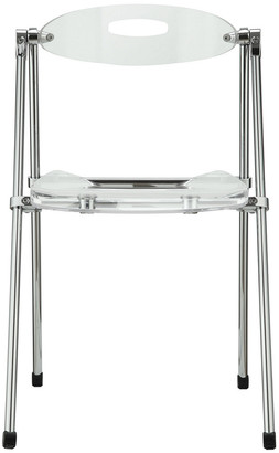 Modway Telescope Dining Chairs Acrylic Set