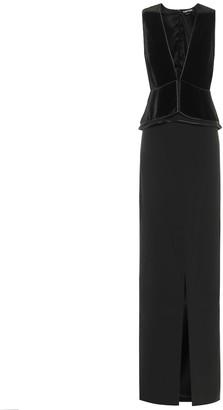 Tom Ford Velvet and crepe gown