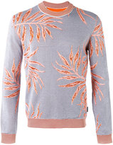 Ballantyne leaf intarsia jumper - men - Cotton/Viscose - 48
