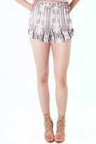 Honey Punch Printed High Waisted Shorts