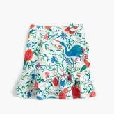 J.Crew Girls' flutter skirt in secret garden print
