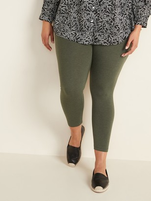 Old Navy High-Waisted Full-Length Plus-Size Jersey Space-Dye Leggings