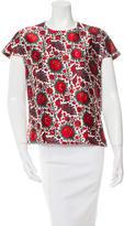 Balenciaga Floral Print Short Sleeve Top