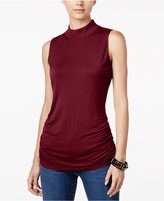 INC International Concepts Petite Ruched Mock-Neck Top, Only at Macy's