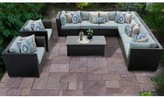 Tegan 10 Piece Sectional Seating Group with Cushions Sol 72 Outdoor Cushion Color: Spa