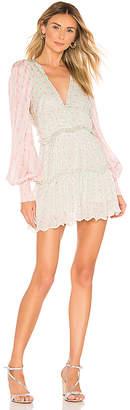 HEMANT AND NANDITA Sana Viscose Satin Stripe Lurex Dress