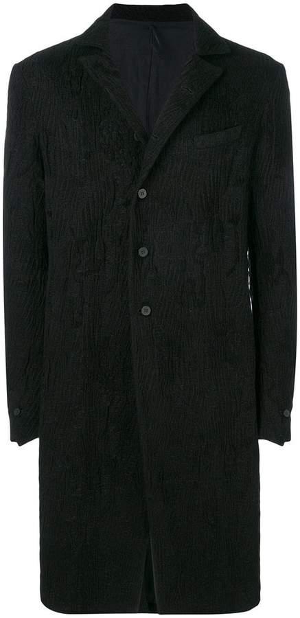 Masnada textured single-breasted coat