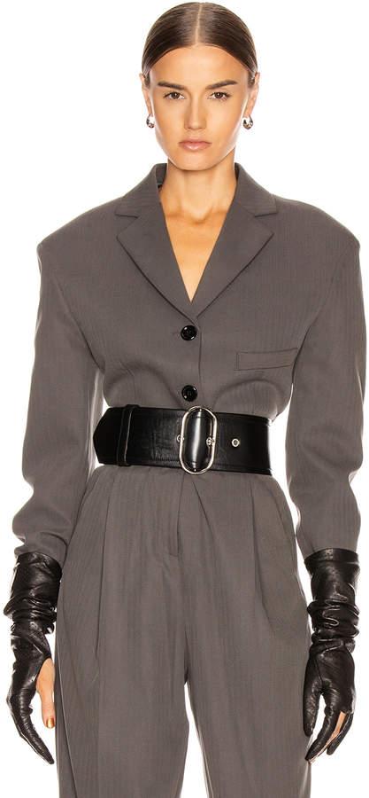 Acne Studios Judethe Suit Jacket in Charcoal Grey | FWRD