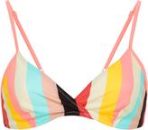 Solid & Striped Brigitte Striped Triangle Bikini Top