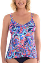 Penbrooke Navy Floral Tankini Top - Plus Too