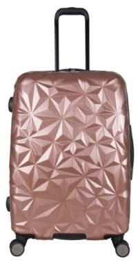 Aimee Kestenberg Luggage Geo Molded 24-Inch Checked Hard Shell Luggage